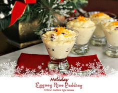 Melissa's Southern Style Kitchen: Holiday Eggnog Rice Pudding Recipe ~ wonderful for parties and entertaining during the holidays