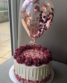 Girly Birthday Cakes, Elegant Birthday Cakes, Beautiful Birthday Cakes, Birthday Cakes For Women, Card Birthday, Birthday Ideas, Birthday Greetings, Cake Designs For Birthday, Birthday Cake With Roses