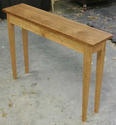 Innovative Mission Console Table  FineWoodworking