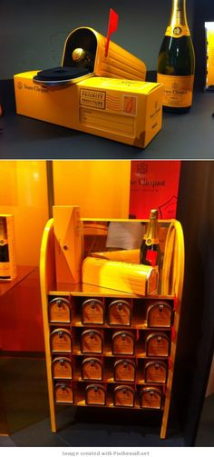 Veuve Clicquot champagne mailbox #packaging