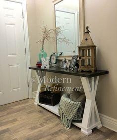 rustic farmhouse entryway table farmhouse table console table