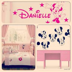 Minnie mouse bedroom ideas for Zaine :)