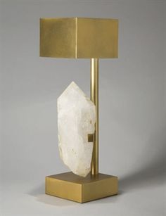 Ado Chale - Brass and quartz lamp, 1970