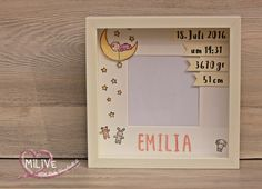 Ikea Rahmen Baby Geschenk Baby Set, Children Furniture, Box Frames, Shower Ideas, Stampin Up, Baby Shower, Wallpaper, Cards, Bedroom Decor