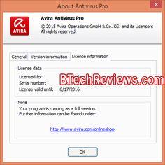 Avira Antivirus Pro 2016 180 days trial