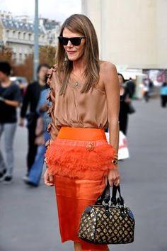 Kaylin Fitzpatrick: style icon...anna dello russo. Orange and brown #celebrities