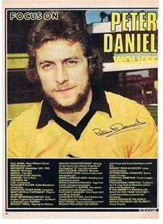 SHOOT Focus Wolverhampton Wanderers Wolves PETER DANIEL football mag picture | eBay