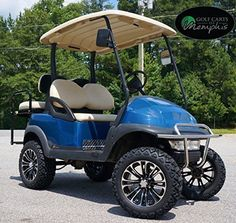 A polka dotted golf cart how cute is that i think you need one for club car precedent golf cart 6 lift kit 14 vector wheels and 23 all terrain tires 4 solutioingenieria Gallery