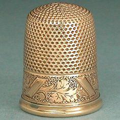 Antique 14 Kt Gold Thimble * Carter Gough & Co.