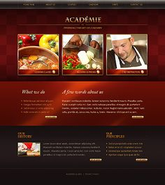 Academie Cook Website Templates by Oldman