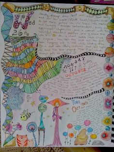 colored pencils, micron pens, doodles and zentangles