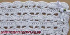 Free baby crochet patterns Shawl USA