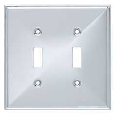 BRAINERD Polished Chrome Double Light Switch WallPlate Cover #BRAINERD