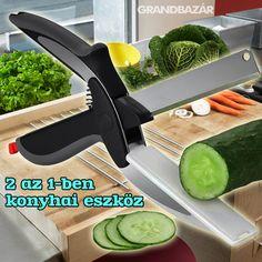 2690 Ft. - Konyhai 2 az 1-ben vágóeszköz / kés+vágódeszka - Grandbazár