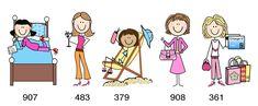 FemaleBody17 Stick Figure Drawing, Stick Figure Family, Sketch Notes, Bullet Journal Art, Stick Figures, Book Illustration, Little People, Cartoon Art, Painted Rocks