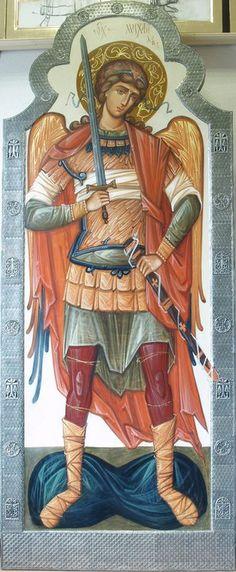 __ Μιχαηλ _ nov 8 ( Rzhanitsina S. Raphael Angel, Archangel Raphael, Byzantine Icons, Byzantine Art, Religious Icons, Religious Art, Angel Protector, Angel Warrior, Albrecht Durer