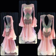 Unique and soft ballroom dress, created for Ekaterina Prozorova now FOR SALE! #dlk_united_design #fashion #danceclothes #ballroomdress #design #dress_for_sale #wdsf