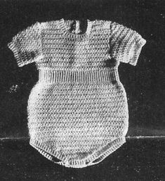 Alice Fowler Crocheted Baby Romper 1198  (for full list of patterns go to http://alicefowler.com/fowler/index.html)