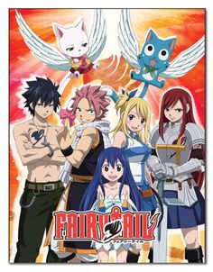 Fairy Tail Anime Character Group Sublimination Throw Blanket