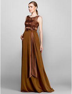 b8a013b761f8 2016 Long Cheap Custom Made Bridesmaid Dresses Brown Maternity Column Scoop  Plus Sizes Wedding Party Dress