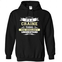CRAINE-the-awesome - #shirt for girls #tee women. I WANT THIS => https://www.sunfrog.com/LifeStyle/CRAINE-the-awesome-Black-Hoodie.html?68278