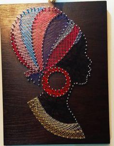 String Art Templates, String Art Tutorials, String Art Patterns, Canvas Art Projects, Diy Canvas Art, String Wall Art, Diy Wall Art, Dot Art Painting, Fabric Painting