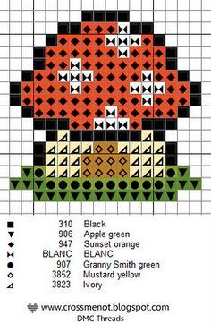 Cross me not: Mushroom house - free cross stitch pattern