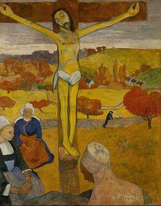 """""""Il Cristo giallo"""", Paul Gauguin, 1889; olio su tela, 92x73 cm; l'opera appartine alla Albright–Knox Art Gallery, Buffalo, New York City."""