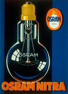 """OSRAM NITRA"". Advert for Osram GmbH, Berlin. From Gebrauchsgraphik, Berlin, July 1929"