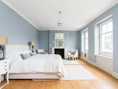 For monochromatic designs, using a softer, more toned-down hue would be a good idea. Perfect for contemporary spaces, silver / gray blue can add dimension to your room without making it feel closed in. #bedroom #house #interiordesign #home #decorating #decoratingtips #paint #painting #grayblue #silverblue