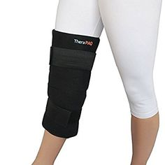 """Knee Replacement Post Surgery Hot and Cold Therapy Solution - Large Pain Relief Ice Pack with Wrap by TheraPAQ - Elastic Velcro Straps for Hot / Cold Therapy 