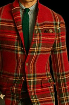 Black Watch Tartan Plaid Blazer Men S Outfit Idea D E T