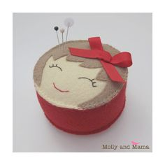 PDF Felt Pin Cushion Pattern 'Miss Molly' by MollyandMama on Etsy