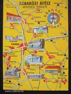 csorna Map, Location Map, Maps