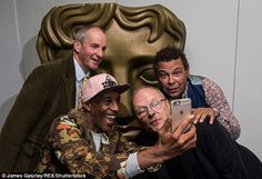 Rimmer, the Cat, Kryton and Dave Lister without make-up (I can't remember how long ago I watched the original series of Red Dwarf. Since then my 2 sons were born and are addicted to the programme (my youngest son is now trying to indoctrinate his girlfriend).