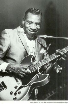 """Aaron Thibeaux """"T-Bone"""" Walker 1910 was a critically acclaimed blues guitarist, singer, songwriter and multi-instrumentalist. Rock And Roll, Pop Rock, Harpo Marx, Jazz Blues, Blues Music, Blues Artists, Music Artists, Rock Artists, T Bone"""
