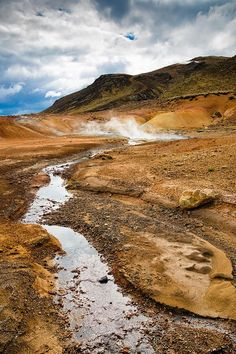 Geothermal area Krysuvik / Seltun in Reykjanes, Iceland, Europe. Fascinating landscape full of hot springs, fumaroles and mud pots. Available as greeting card, poster, framed fine art print, metal, acrylic or canvas print. (c) Matthias Hauser hauserfoto.c