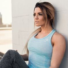 Seamless styling. Nikki Blackketter working the Seamless Vest Mint Green. Available now > https://gymshark.com/collections/t-shirts-tops/products/gymshark-seamless-vest-mint-green