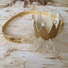 Corona diadema corona de oro brillo corona por SugarPlumBowtiques