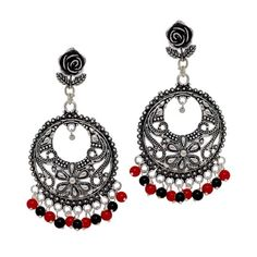 #Oxidised Gold Plated Green Color Stone Drop #Earring  @eindiawholesale