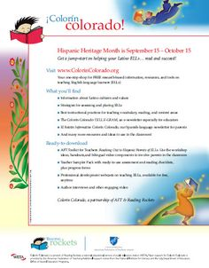 Hispanic Heritage Month | Colorín Colorado