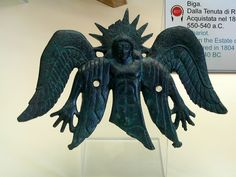 Etruscan bronze fitting from a chariot, 550-540 BCE. Vatican Museums. Acquired in 1804 from A. Pazzaglia.