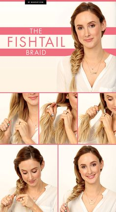 Braided tutorial: how to do the fishtail braid hairstyle in 5 simple steps.