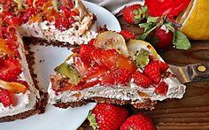 torta fredda alla frutta-ricetta veloce Crepes, Avocado Toast, French Toast, Cooking Recipes, Pasta, Breakfast, Food, Morning Coffee, Pancakes
