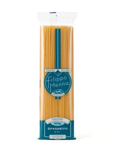 """A package that expresses the taste and spirit of Italy in order to have a better presence in markets overseas.    """"The packaging of pasta Filippo Menna has been studied by Angelini Design to export our good name overseas: the classic transparency of the packages was joined by a symbol of the Vesuvius and the traditional color of the city of Naples, light blue.    The Italian touch on this packaging is evident, inside it is the most traditional line of products for Garofalo."""