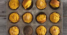 Spicy, moist pumpkin muffins - and they're gluten-free.