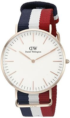 Top Trends Top Brands Bigger Promotions.  Daniel Wellington? Men's Quartz Watch Classic Cambridge 0103DW with Nylon Strap