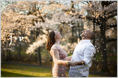 Engagement photo shoot in Branch Brook Park, Newark/Belleville, NJ #CherryBlossom #Engagements #Photos