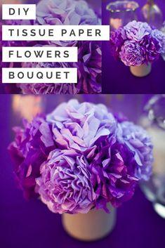 diy tissue paper flowers bouquet tutorial