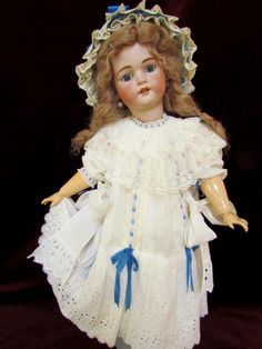 29 Lovely Antique German Bisque Head Doll by by AntiqueDollPlace, $850.00